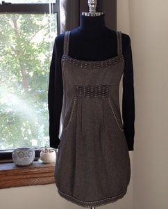 Nanette Lepore brown houndstooth jumper dress 2